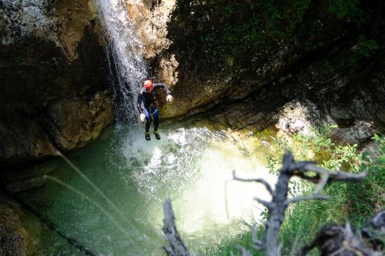 canyoning log pod mangartom